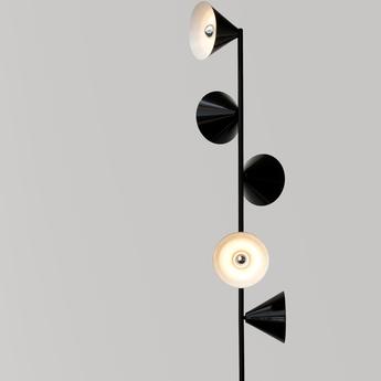 Lampadaire vertical 1 noir o27 5cm h165cm atelier areti normal