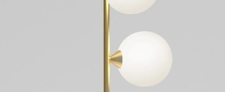 Lampadaire vertical globe 071 laiton o20cm h183cm atelier areti normal