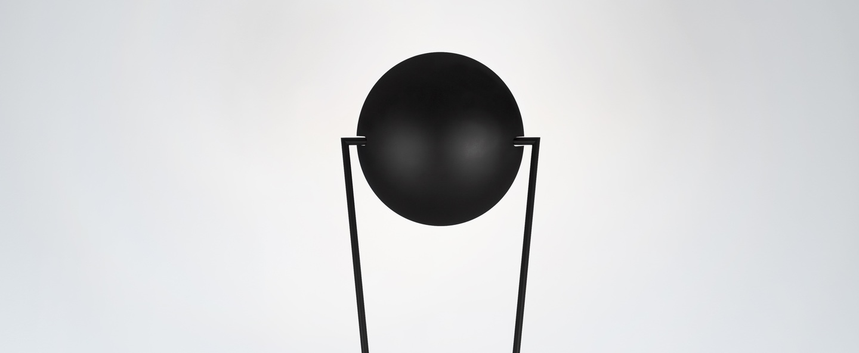 Lampadaire victory led noir h180cm lumen center italia normal