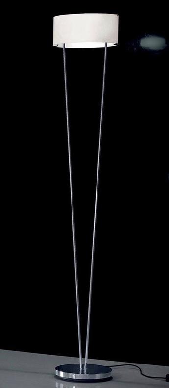 Lampadaire vittoria tr 1 blanc chrome l34cm h180cm leucos normal