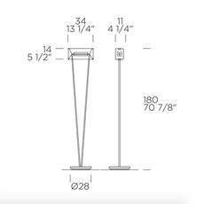 Vittoria tr 1 giusto toso lampadaire floor light  leucos 0004104  design signed nedgis 70688 thumb