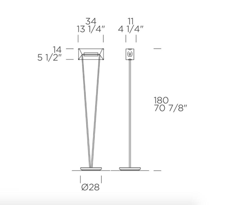 Vittoria tr 1 c giusto toso lampadaire floor light  leucos 0004103  design signed nedgis 70687 product