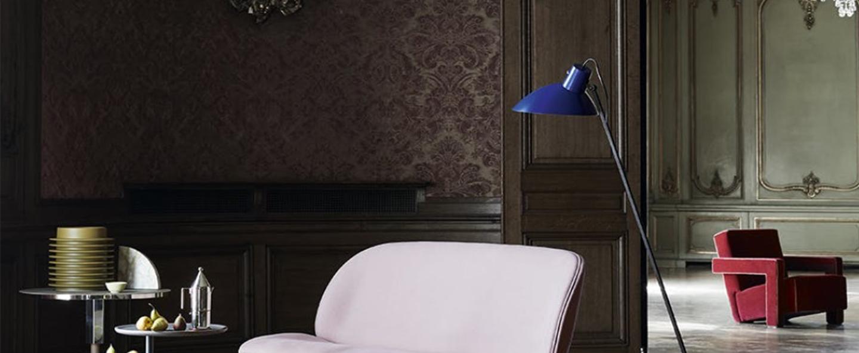Lampadaire vv cinquanta bleu et noir o27 4cm h147cm astep normal