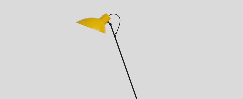 Lampadaire vv cinquanta jaune et mondrian o27 4cm h147cm astep normal