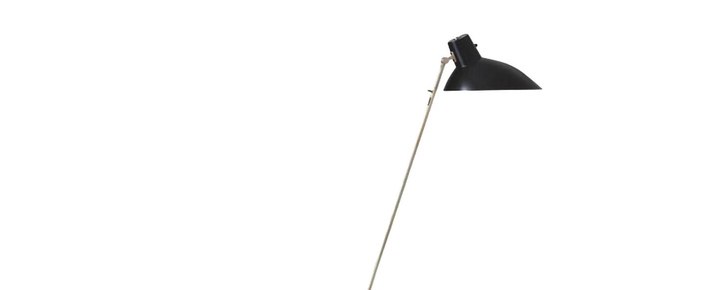 Lampadaire vv cinquanta noir et laiton o27 4cm h147cm astep normal