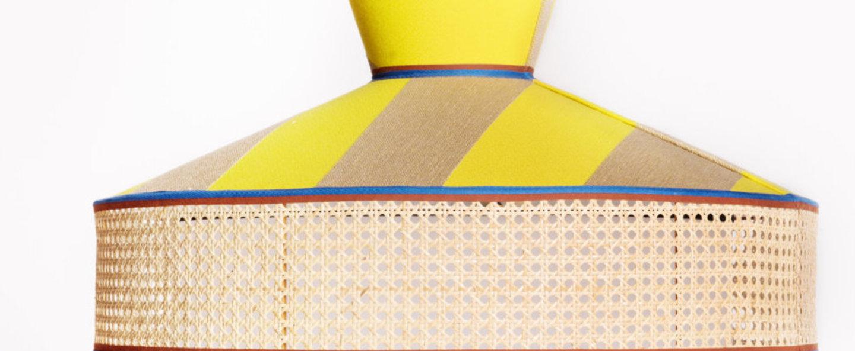 Lampadaire wagasa jaune marron led o65cm h172cm gebruder thonet vienna gmbh normal