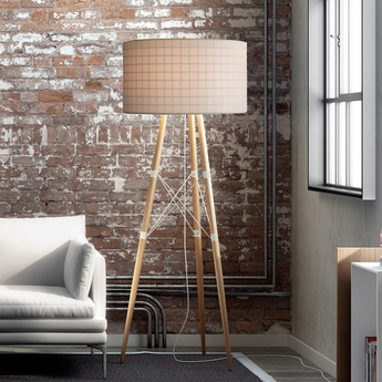 Lampadaire wire ligt blanc chene h197cm b lux normal