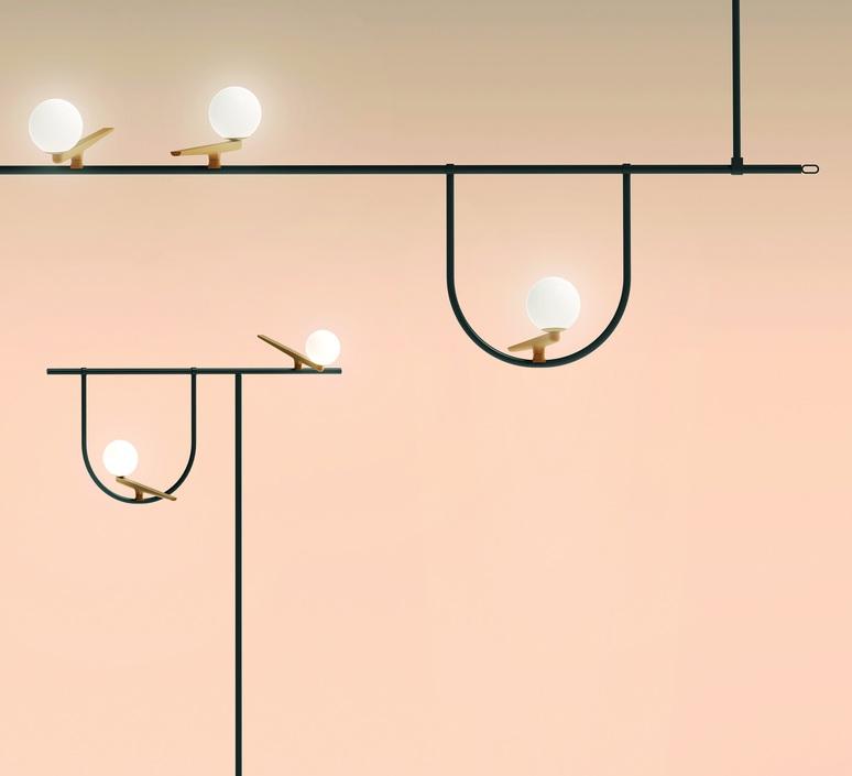 Yanzi 2 neri et hu lampadaire floor light  artemide 1102010a  design signed 43102 product