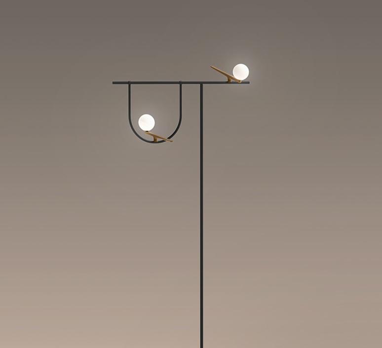 Yanzi 2 neri et hu lampadaire floor light  artemide 1102010a  design signed 43103 product
