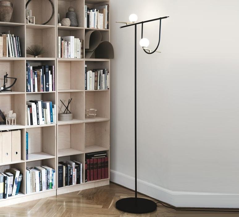 Yanzi 2 neri et hu lampadaire floor light  artemide 1102010a  design signed 55192 product