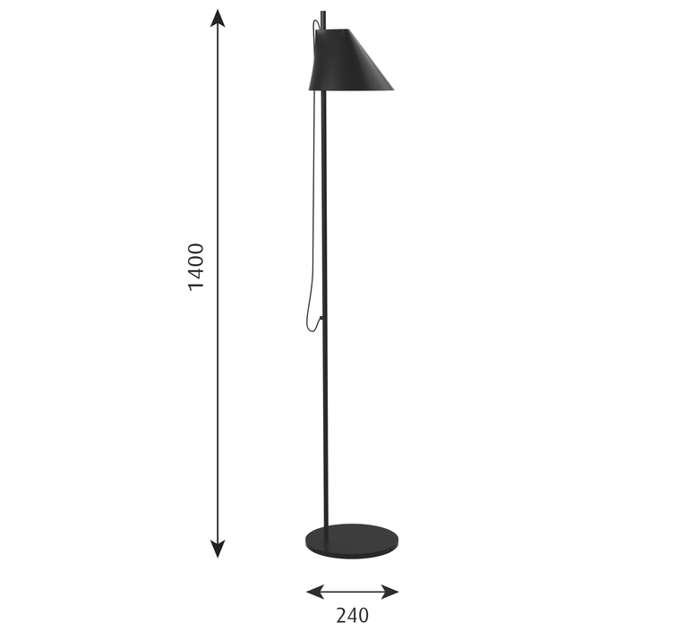 Yuh gamfratesi lampadaire floor light  louis poulsen 5744612539  design signed 49044 product