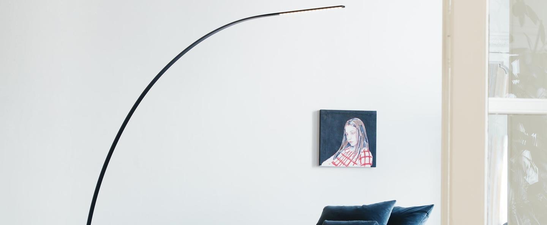 Lampadaire yumi noir o250cm fontana arte normal