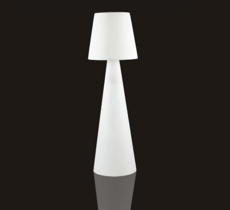 lampadaire d 39 ext rieur pivot blanc h200cm slide luminaires nedgis. Black Bedroom Furniture Sets. Home Design Ideas