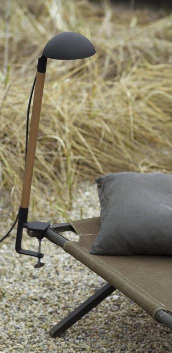 Lampe a fixer d exterieur tools pince gris fonce h88cm p33 5cm artuce normal