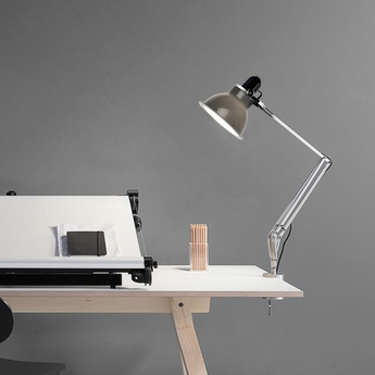 Lampe a pincer type 1228 gris fonce h53cm anglepoise normal