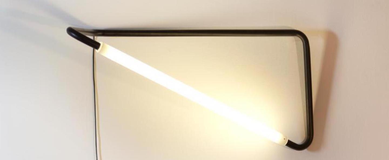 Lampe a poser 001 noir led l20cm h45cm naama hofman normal