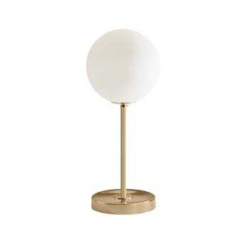 Lampe a poser 06 version 1 marbre de carrare laiton o22cm h50cm magic circus editions normal