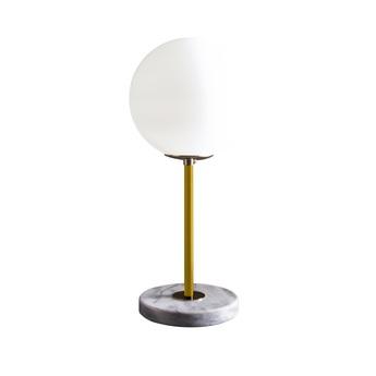Lampe a poser 06 version 1 marbre de carrare moutarde o22cm h50cm magic circus editions normal