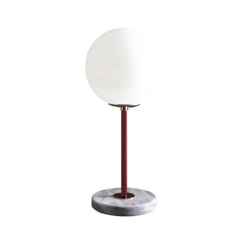Lampe a poser 06 version 1 marbre de carrare rouge vin o22cm h50cm magic circus editions normal