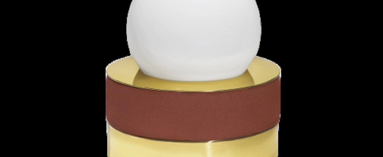 Lampe a poser 1 01 brique led o18cm h21cm haos normal