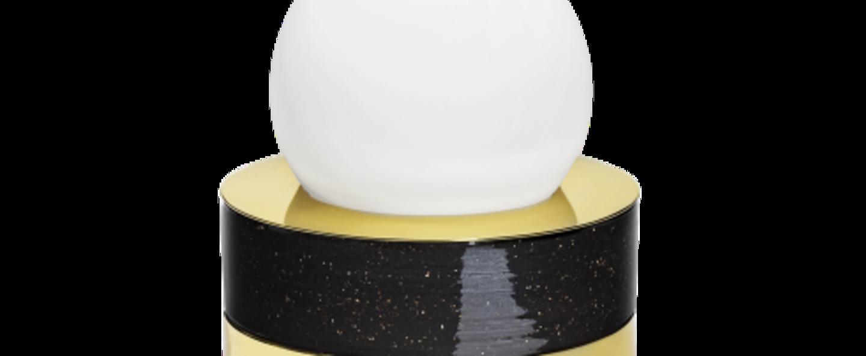 Lampe a poser 1 01 noir led o18cm h21cm haos normal