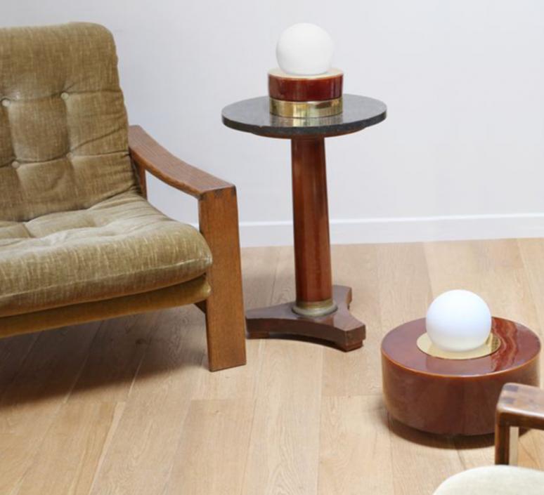 1 03 sophie gelinet et cedric gepner lampe a poser table lamp  haos 1 03 cognac  design signed 41632 product