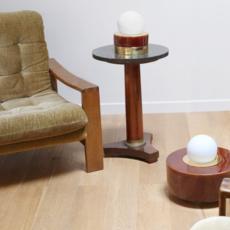 1 03 sophie gelinet et cedric gepner lampe a poser table lamp  haos 1 03 cognac  design signed 41632 thumb