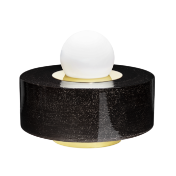 Lampe a poser 1 03 noir led o34cm h28cm haos normal
