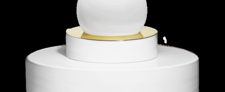 Lampe a poser 1 04 blanc led o34cm h34cm haos normal
