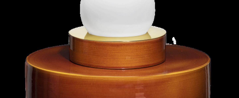 Lampe a poser 1 04 cognac led o34cm h34cm haos normal