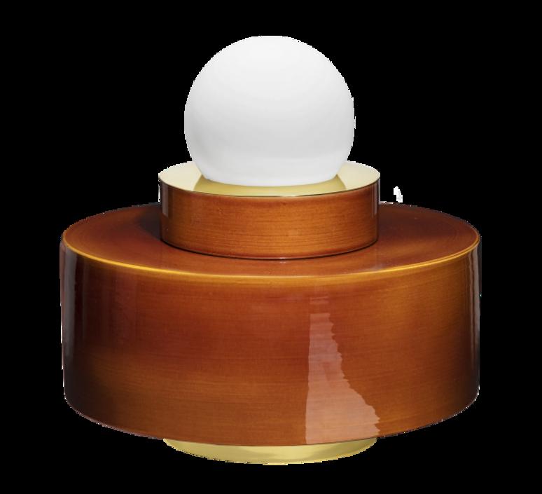 1 04 sophie gelinet et cedric gepner lampe a poser table lamp  haos 1 04 cognac  design signed 41670 product