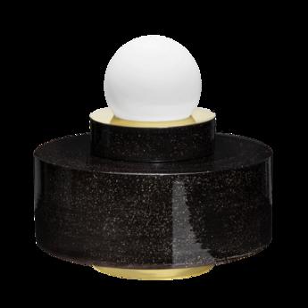 Lampe a poser 1 04 noir led o34cm h34cm haos normal