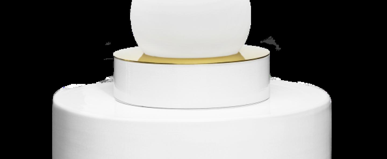 Lampe a poser 1 05 blanc led o34cm h43cm haos normal