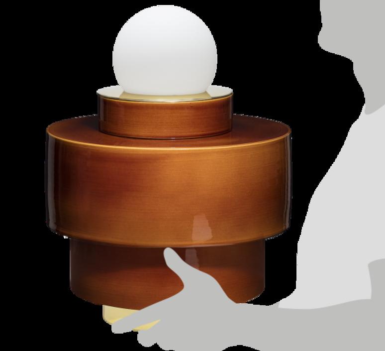 1 05 sophie gelinet et cedric gepner lampe a poser table lamp  haos 1 05 cognac  design signed 41713 product