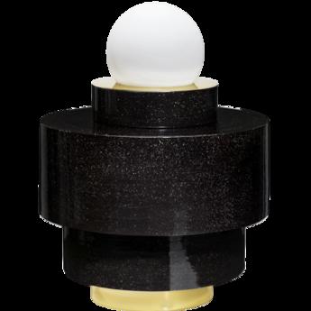 Lampe a poser 1 05 noir led o34cm h43cm haos normal