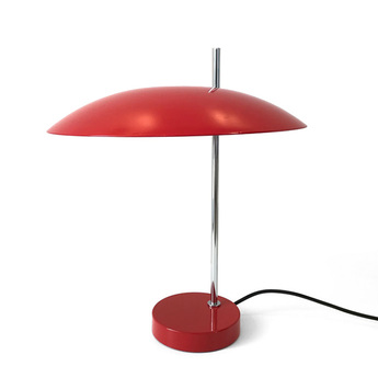 Lampe a poser 1013 tige chrome rouge o33cm h39 7cm disderot normal