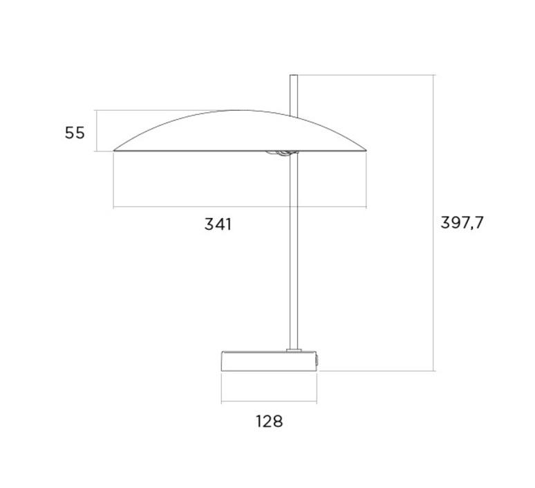 1013 tige laiton pierre disderot lampe a poser table lamp  disderot 1013 l n   design signed nedgis 82830 product