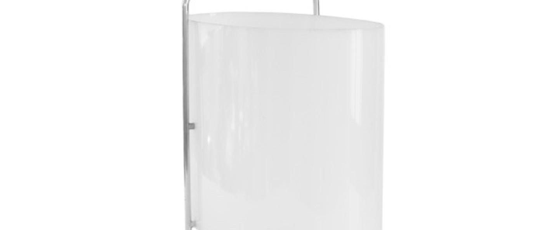 Lampe a poser 1021 chrome blanc l15 3cm h27 9cm disderot normal