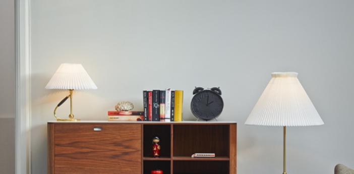 Lampe a poser 306 paper blanc laiton o35cm h41cm le klint normal