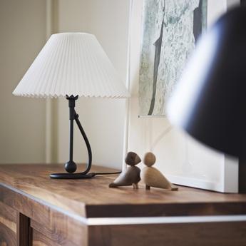 Lampe a poser 306 paper blanc noir o35cm h41cm le klint normal