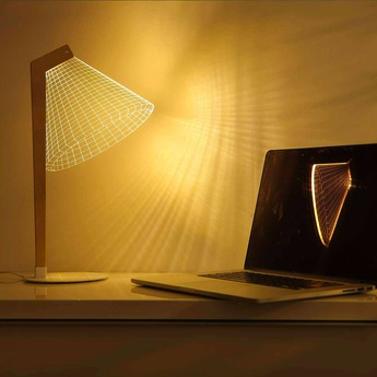 Lampe a poser 3d deski led h42 22cm studio cheha normal