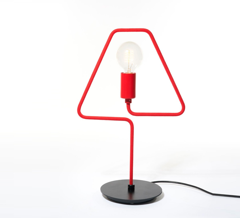 A shades douglas james lampe a poser table lamp  zava a shades tablelamp red ral3002  design signed 36486 product