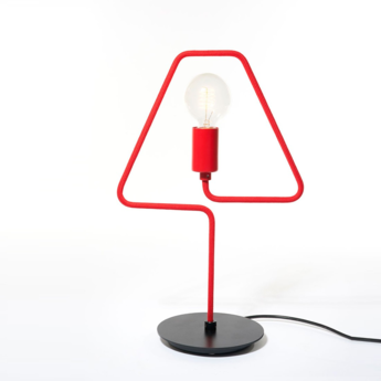 Lampe a poser a shades rouge l31cm h47cm zava normal