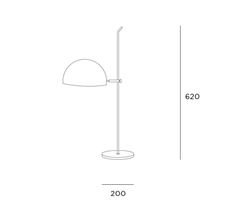 6135 pm pierre paulin lampe a poser table lamp  disderot 6135pm b  design signed nedgis 84114 product