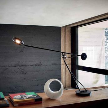 Lampe a poser aaro noir l100cm h40cm dcw normal