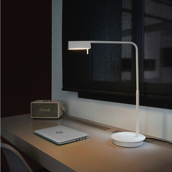 Lampe a poser academy blanc led h44cm h53cm faro normal