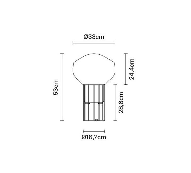 Aerostat f27  lampe a poser table lamp  fabbian f27 b03 19  design signed nedgis 68847 product