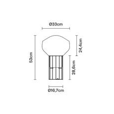 Aerostat f27  lampe a poser table lamp  fabbian f27 b03 19  design signed nedgis 68847 thumb