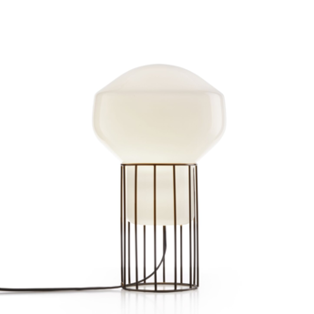 Lampe a poser aerostat f27 blanc noir o22 8cm h37cm fabbian normal