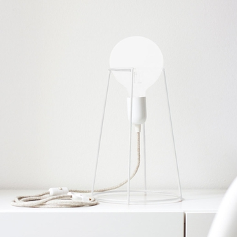 Lampe a poser agraffe blanc h37cm eno studio normal